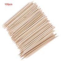 Wholesale 100Pcs Push Dead Skin Nail Tool Orange Stick for Nail Art NAS_222