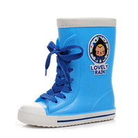 Rain Boots Men USB Recommended light neutral fashion cartoon children's rain boots wellies Korea warm water shoes for boys and girls in tube rubber boots