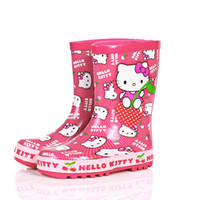 Rain Boots Men USB The new children's spring fashion plus velvet boots in tube girls in rubber boots Special non-slip rubber boots water shoes student