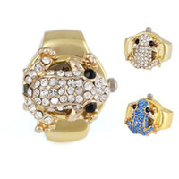 Asian & East Indian analog wedding bands - New Arrival mm Unisex Frog Pattern Metal Analog Quartz Ring Watch Two Colors Available