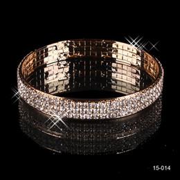 Wholesale Hot Sale Elastic Sliver Plated Crystal Bangle Bridal Bracelets Bracelets Party Jewelry