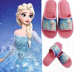 9%off,in stock!on sale!Fashion!Elegant!frozen elsa anna princess! Home-slip breathable absorbent shoes!drop shipping,hot sale,6paris 1pcs,MC