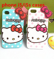 For Apple iPhone iphone 5 accessories - New cases Iphone i5 i5s hallo kitty case Silicone gel cell phone cases Accessories Non toxic odorless