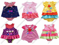 Wholesale 7 Designs Girls One Piece Baby Rompers M M M M M