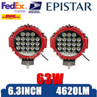 Wholesale 6 inch W Epistar Red best led work lights Off Road LED JEEP Headlight Spot Beam Round Drivi Work Light Car Auto Motocyclng Fog Lamp
