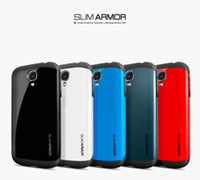 Wholesale 2014 New Premium Real SGP Hybrid SLIM ARMOR SPIGEN Case Phone Bags Hard Back Cover Luxury TPU Plastic Cases For Samsung galaxy S3 S4 NOTE2