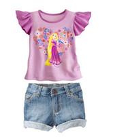 Girl Summer Short new Frozen Princess children's clothing sets,cut cartoon girls summer sets,toddler baby kids suit