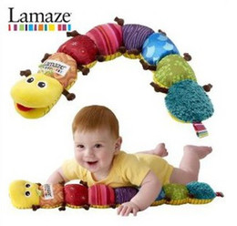 Wholesale Lamaze Baby Toys Musical Inchworm Stuffed Plush Soft Sound Paper rattles Toy Retail