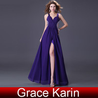 Grace Karin Sexy Strap Deep V- neck Ruched Evening Prom Dress...