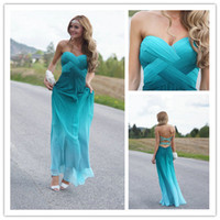 Hot Sale!Sexy Sweetheart Prom Dresses Crystal Beaded Backles...