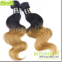 Wholesale 1B# & 27# Ombre Hair Extensions Unprocessed Ch...