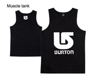 Wholesale new Burton Muscle vest mens boys bodybuilding fitness tank tops fashion male singlet cool summer clothing S XXXL
