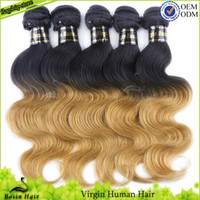 Malaysian Virgin hair Ombre Hair Extensions 1B#& 27# Free...