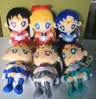 5-7 Years anime plush doll sailor moon - 2014 New Janpanese Anime Cartoon Sailor Moon Plush Toys Dolls Christmas Gift set