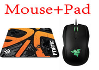 8200 Wired Liquid Boxed Razer Taipan Gaming mouse 8200 DPI + Steelseries QcK+ Fnatic (Asphalt version) Mouse pad Best Selling games mouse pad Free Shipping
