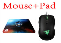 8200 Wired Liquid Boxed Razer Taipan Gaming mouse 8200 DPI + Steelseries QcK+ MYM Mouse pad Best Selling games mouse pad Free Shipping
