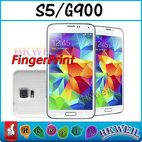 Wholesale 1 S5 G900 I9600 Android Cell Phone GB GB fingerprint GSM Unlocked With Inch Screen MP Camera Cell Phone