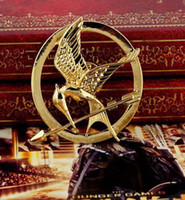 Wholesale 60pcs Authentic Prop imitation Jewelry Katniss Movie The Hunger Games MOCKINGJAY PIN with retail package