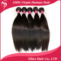 Wholesale 6A Unprocessed Queen hair Products Straight Brazilian Virgin Hair Extensions Natural Color Tangle Free BH603