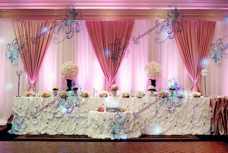 Decoration Backdrop Wedding Drape Curtain White Swag Led Online With