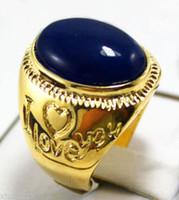 Wholesale Wonderful Men s blue Jade Ring size