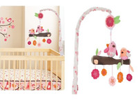 Cloth 0-12 Months Christmas 2014 Brand New Newborn Crib Mobile Baby Bed Hanging Toys Bell musical Bird Rattles Mobiles Toy Baby Educational Toys