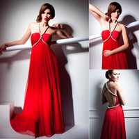 Wholesale 2014 Newest Style Fashion Chinese Red Chiffon Sexy Bien Suvvy Evening Dresses Spaghetti Strao Criss Cross Bridal Prom Celebrity Gowns