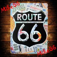 Wholesale Mike86 Route US Metal Plaque Gift PUB Metal Painting Craft Bar House Decor B Mix order CM