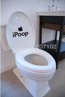 Graphic vinyl PVC Animal Ipoop Toilet Wall Sticker Decals Bathroom Wall Paper Home Decoration Items Wholesale 10pcs Lot