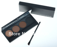 Wholesale Professional colour EYEBROW Powder Shadow Palette With Double Ended Brush