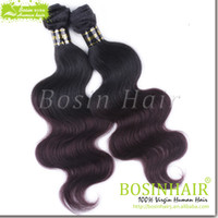 Wholesale Cheap Malaysian Hair Colored Two Tone Hair Weave 1...