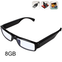 8G Yes Black G3000 HD Glasses Hidden Camera Eyewear Spy Camera 1280 x 720 Resolution Card