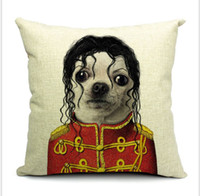 Wholesale fresh style Star dogs cats theme thick cotton and lien mordern minimalist office pillow case home sofa car cushion case cm