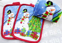 Wholesale 22 cm New Fashion Pure Cotton Christmas Pot Holders Cup Mat styles Eat Mat Creative Household Items