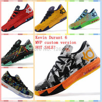 Hight Cut Men Spring and Fall 2014 Cheap Best Mens Basketball Shoe kd 6 basketball shoes for men sneaker kevin durant MVP shoes size 41-46 Rose,ice cream,aunt pearl,liger