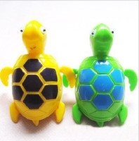 2-4 Years Green Plastics Wholeslae free shipping plastic cement multicolour wind up swimming tortoise cuckold sea turtle wind-ups gift for kid baby(W469)