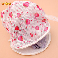 Wholesale Golden Delicious Shanghai shipping fine screen printing with stand nursing bra wash bags washing machine laundry care bags