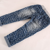 Wholesale New Style baby girls pants Little Dragonfly Print Casual Jeans Elastic Cord Jeans For T T SZ0036