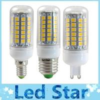 Super Bright 15W G9 GU10 E14 E27 ampoules LED SMD 69 Maïs Lampe 5050 AC 220-240V chaud / Pure White 360 Angle Led + ROHS CE