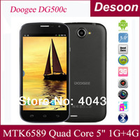 "Quad Core Android Lenovo Low price Doogee DG500C MTK6582 Quad core 1.3Ghz 1GB+4GB 5.0"" 960*540 Android 4.2 Dual SIM 5.0MP 13.0MP Camera Cell phones Amy"