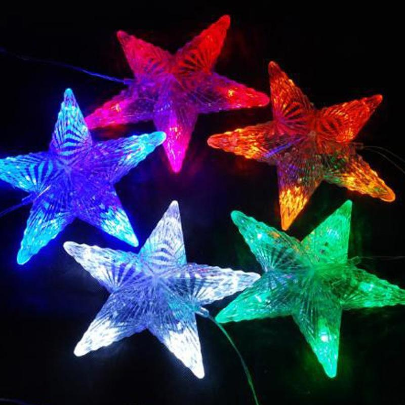 String Lights Stars : 2017 Led Star String Lights Lantern String Lights Flashing Big Star String Lights Led Christmas ...