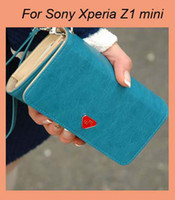 For Sony Ericsson sony xperia sp - TOP Quality PU Leather wallet Smart phone bag case for Sony Xperia Z3 Compact Xperia Z1 mini M51w ZR SP Xperia M2 Xperia L