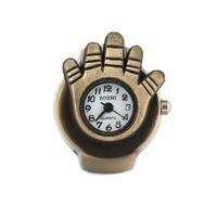 Band Rings analog wedding rings - 2014 New Arrival 27 mm Palm Shaped Vintage Metal Analog Quartz Ring Watch Cinnamon