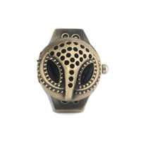 Asian & East Indian analog wedding rings - quot New Arrival mm Owl Case Metal Analog Quartz Ring Watch Cinnamon