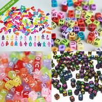 Charm Bracelets Unisex Gift Hot Alphabet Letter Charms Beads For rainbow Loom Rubber Bands Bracelet Craft