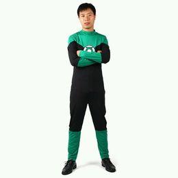 DC Universe Superhero Green Lantern Spandex Superhero Costume Halloween Cosplay Party Zentai Suit