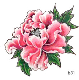 Wholesale Small tattoo stickers waterproof female models peony flower tattoo stickers affixed to the upper arm tattoo stickers cover the scar B31free