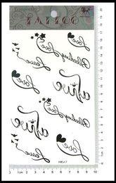Wholesale Caterpillar tattoo sticker waterproof tattoos popular free stickers Tattoo love English paper pattern HM547