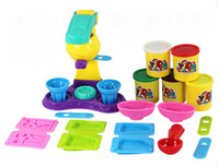 Wholesale Playdough Polymer Clay d Play Dough Plasticine Ice Cream Mould Toiletry Kit Diy Toy