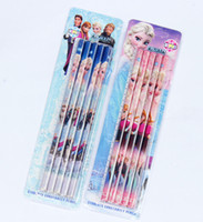 Wholesale 10 Box Frozen HB students pencil Stationery School supplies Christmas Fashion New Gift